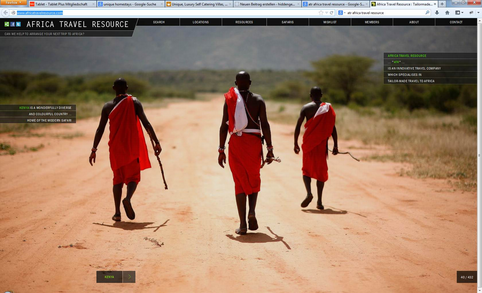 ATR African Travel Resources Screenshot