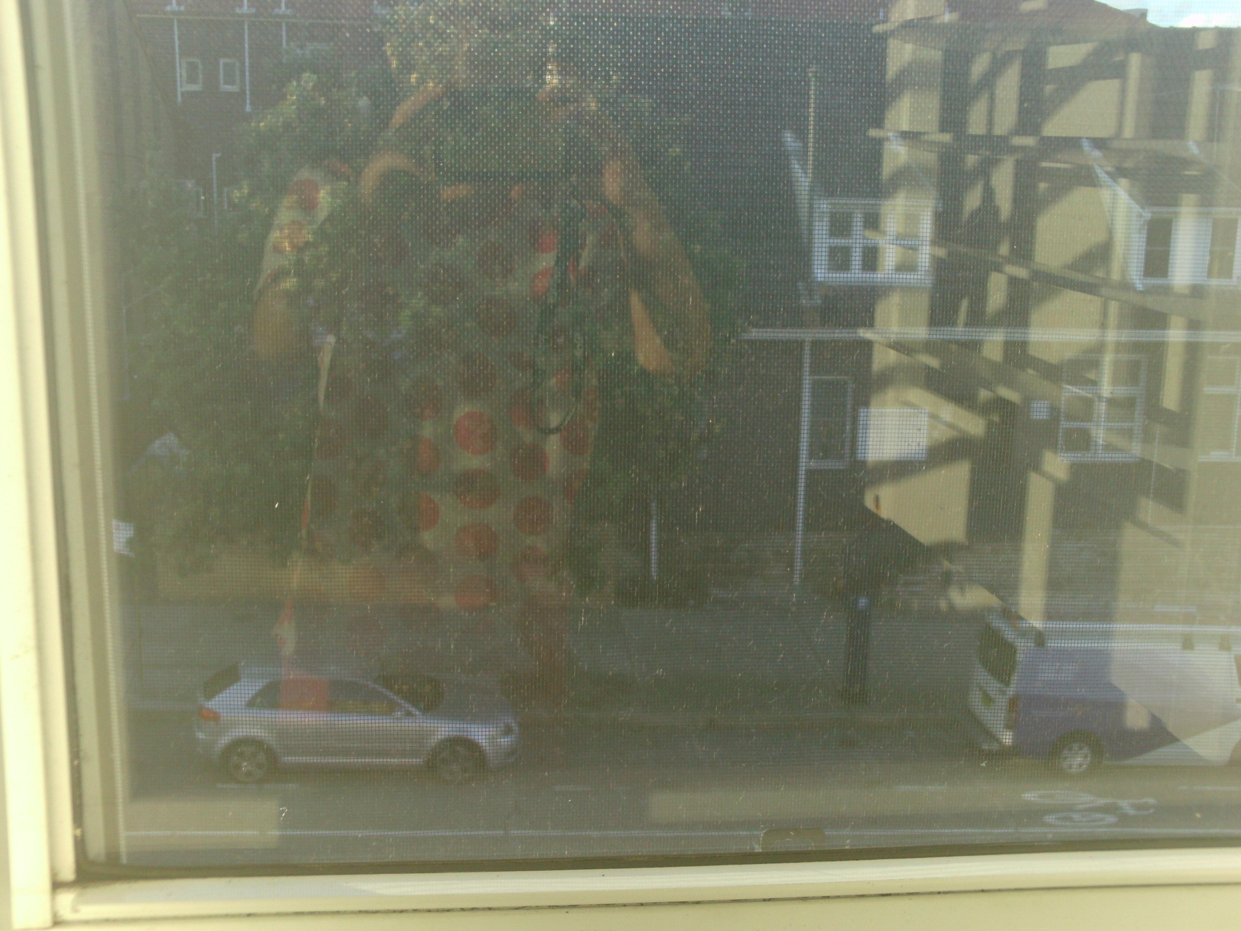 Selbstportrait Fenster im Fenster in Bondi Beach
