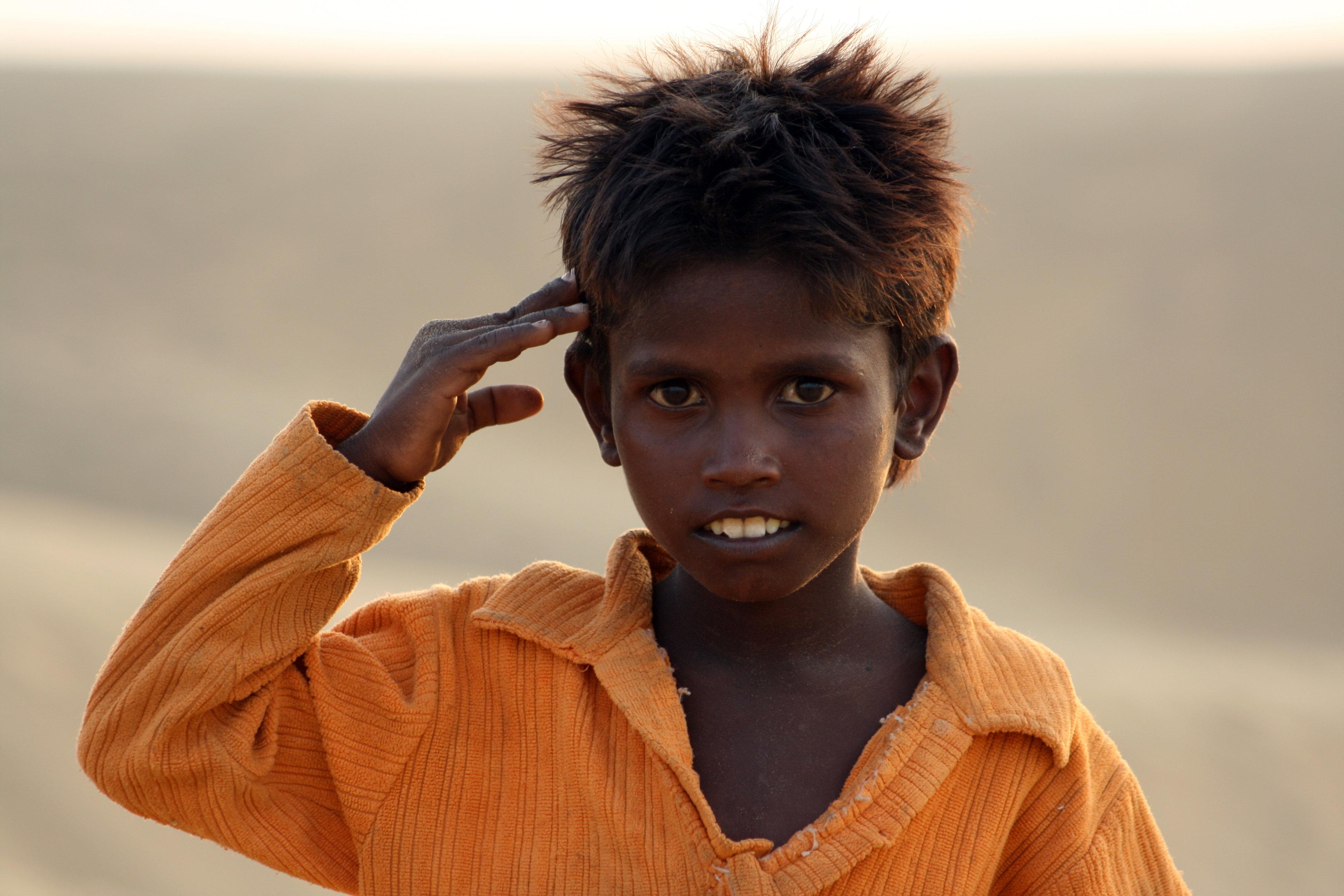 Buntes Indien Kind