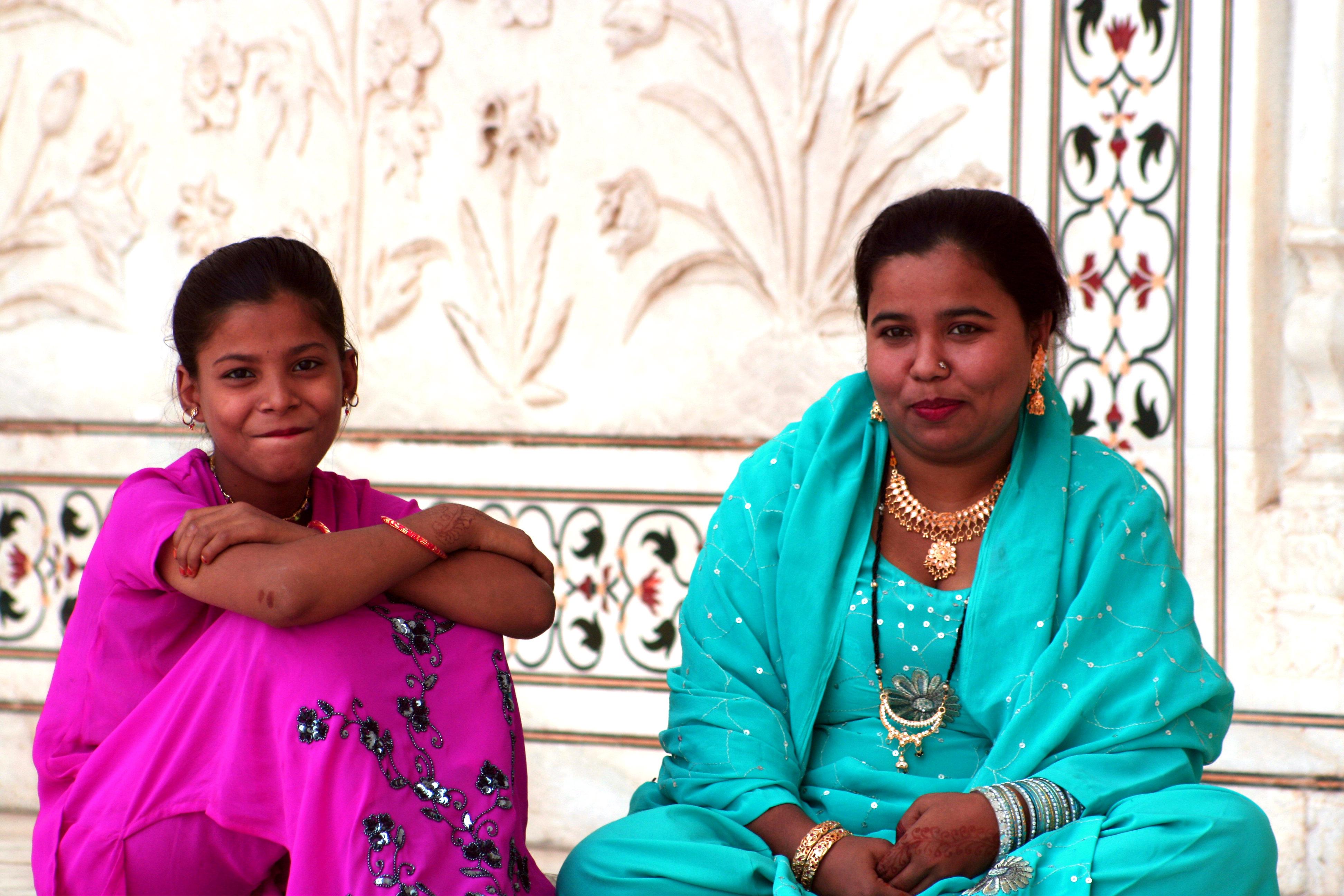 Farben-Indiens-People