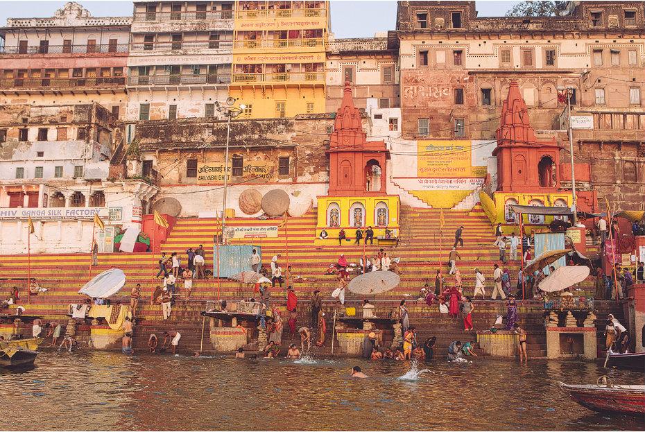 Farben-Indiens-Varanasi