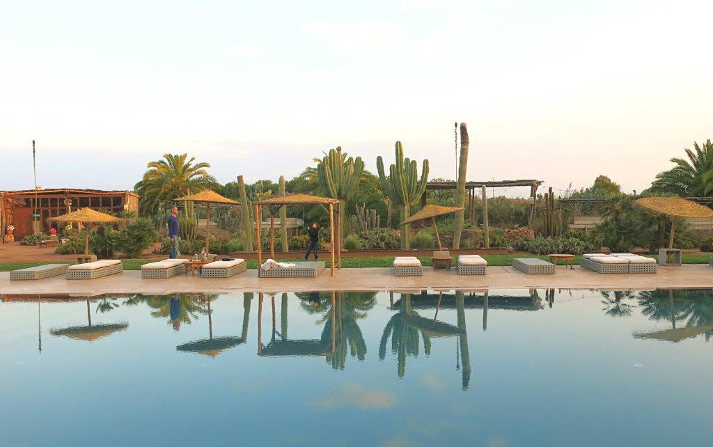 Marrokko-Marrakesch-Pool-Fellah-Hotel