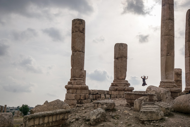 Jordanien-mit-Kind-Amman-Zitadelle